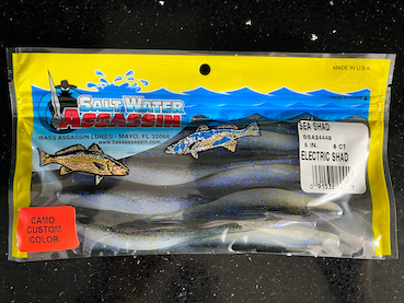 "Bass Assassin SSA25236 Sea Shad Electric Blue 4/"" Soft Plastic Fishing Lure"